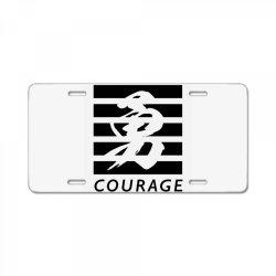 Self Courage License Plate   Artistshot