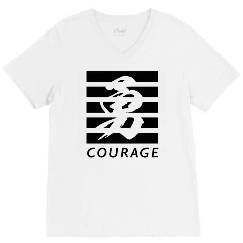 Self Courage V-neck Tee | Artistshot