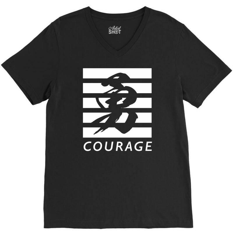 Courage V-neck Tee | Artistshot