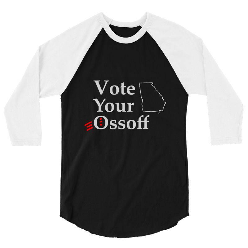 Vote Your Ossoff Essential T Shirt 3/4 Sleeve Shirt | Artistshot