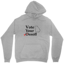 vote your ossoff t shirt Unisex Hoodie | Artistshot