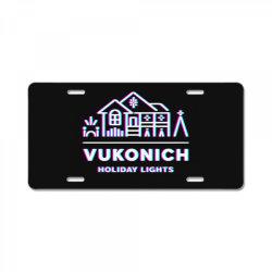 vukonich holiday lights house illustration  t shirt License Plate | Artistshot