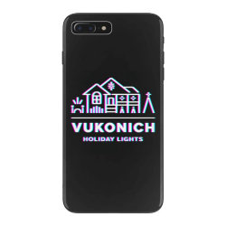 vukonich holiday lights house illustration  t shirt iPhone 7 Plus Case | Artistshot