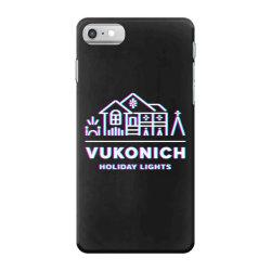 vukonich holiday lights house illustration  t shirt iPhone 7 Case | Artistshot