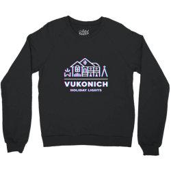 vukonich holiday lights house illustration  t shirt Crewneck Sweatshirt | Artistshot