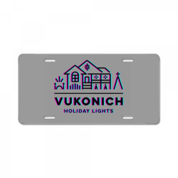 vukonich holiday lights house illustration classic t shirt License Plate | Artistshot