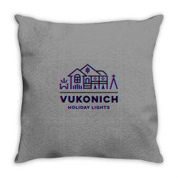 vukonich holiday lights house illustration classic t shirt Throw Pillow | Artistshot