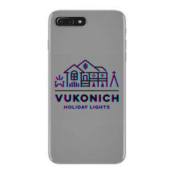 vukonich holiday lights house illustration classic t shirt iPhone 7 Plus Case | Artistshot