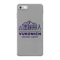 vukonich holiday lights house illustration classic t shirt iPhone 7 Case | Artistshot