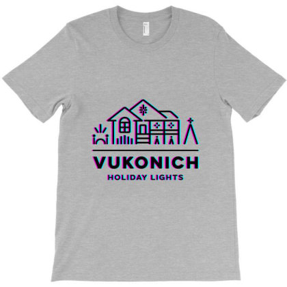 Vukonich Holiday Lights House Illustration Classic T Shirt T-shirt Designed By Moon99