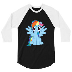 Unicorn cute cartoon art 3/4 Sleeve Shirt | Artistshot
