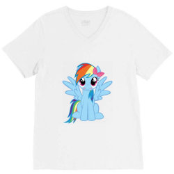 Unicorn cute cartoon art V-Neck Tee | Artistshot