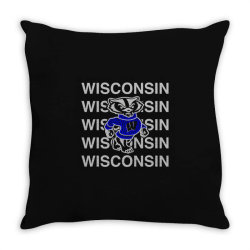 wisco art t shirt Throw Pillow | Artistshot