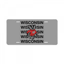 wisco classic t shirt License Plate | Artistshot