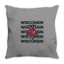 wisco classic t shirt Throw Pillow | Artistshot