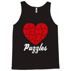 puzzles heart puzzles lover Tank Top | Artistshot
