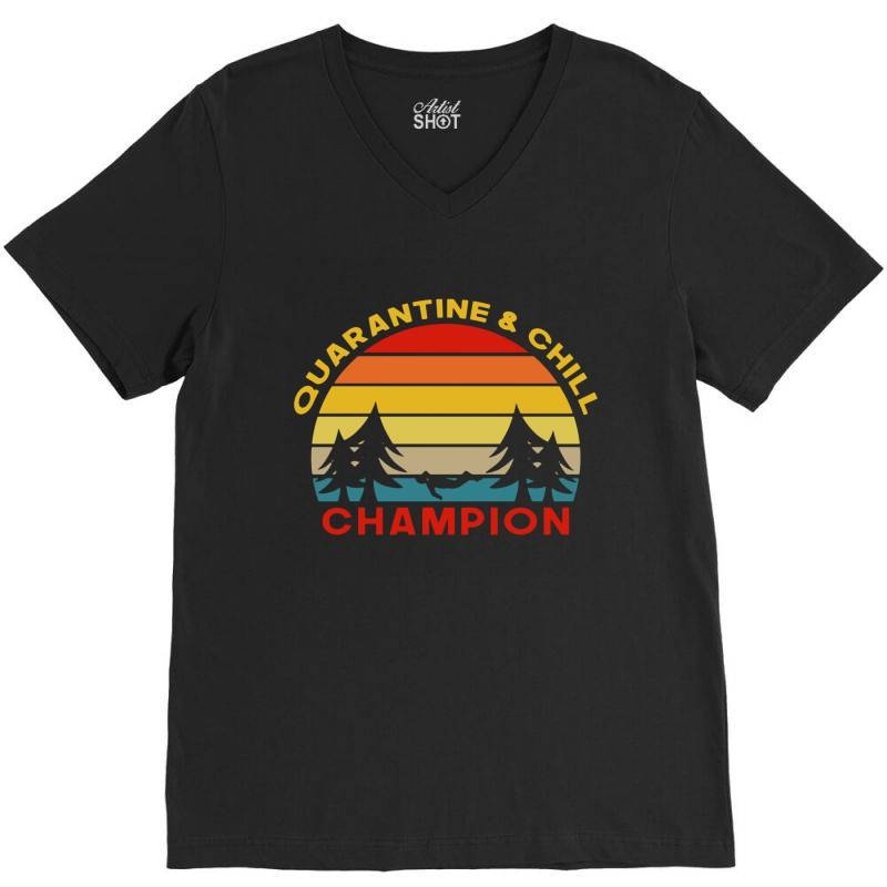 Quarantine Champion V-neck Tee | Artistshot