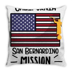 CALIFORNIA SAN BERNARDINO MISSION Throw Pillow | Artistshot
