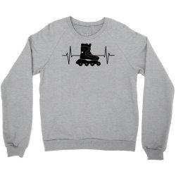rollerblading ekg line Crewneck Sweatshirt | Artistshot