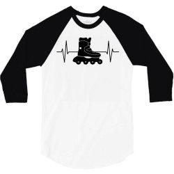 rollerblading ekg line 3/4 Sleeve Shirt | Artistshot