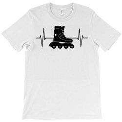 rollerblading ekg line T-Shirt | Artistshot