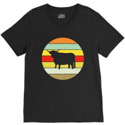 scottish highland highland cattle cow V-Neck Tee | Artistshot