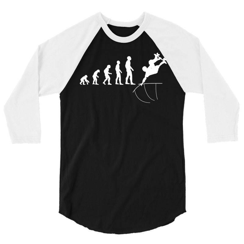 Skateboarder Trick Half Pipe Evolution 3/4 Sleeve Shirt | Artistshot