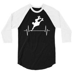 skateboarder trick 3/4 Sleeve Shirt   Artistshot