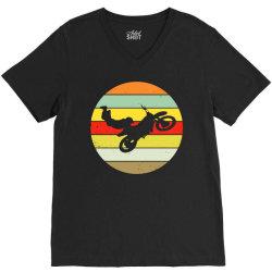 stuntman cascadeer motorcycle1 V-Neck Tee | Artistshot