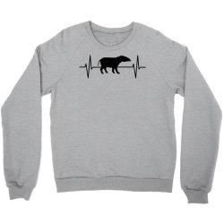 tapir lover ekg heartbeat line Crewneck Sweatshirt | Artistshot