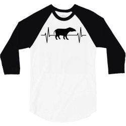 tapir lover ekg heartbeat line 3/4 Sleeve Shirt | Artistshot