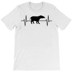tapir lover ekg heartbeat line T-Shirt | Artistshot