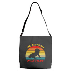 the best baby in the galaxy Adjustable Strap Totes | Artistshot