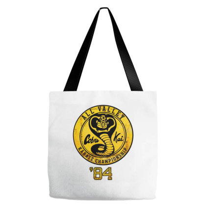 All Valley Cobra Kai Karate Championship Tote Bags Designed By Badaudesign