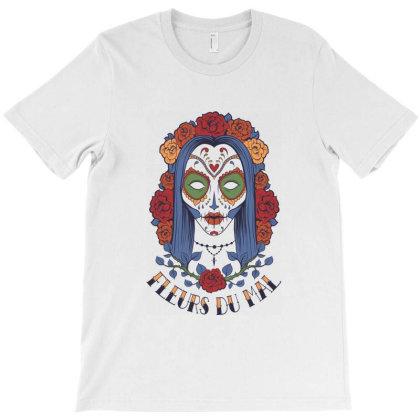 Fleurs Du Mal, Girl, Flowers T-shirt Designed By Estore