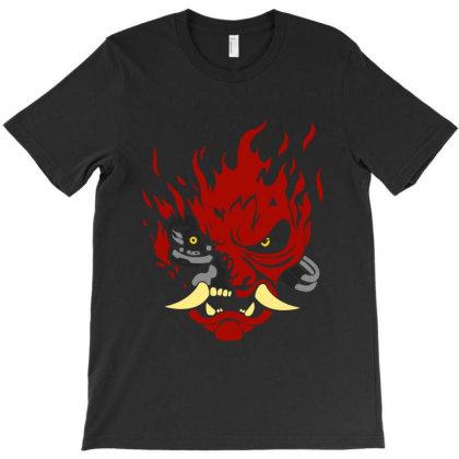 Cyberpunk Samurai Skull Classic T Shirt T-shirt Designed By Moon99