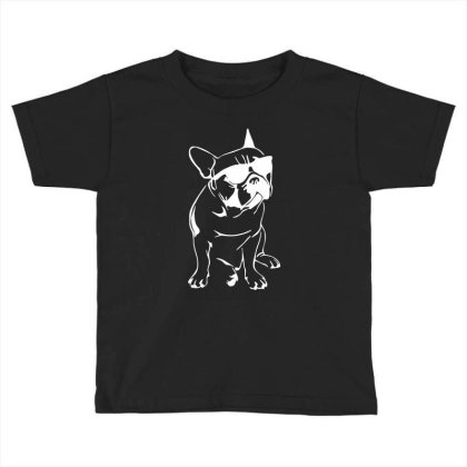 French Bulldog Toddler T-shirt Designed By Dorothy Tees