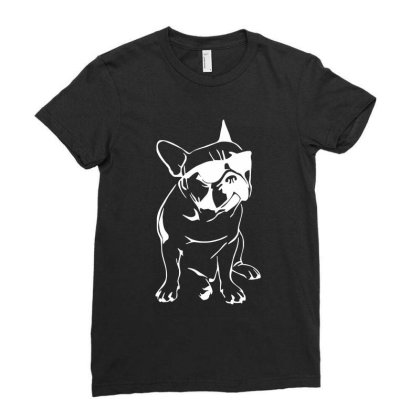 French Bulldog Ladies Fitted T-shirt Designed By Dorothy Tees