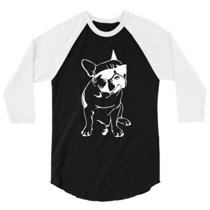French Bulldog 3/4 Sleeve Shirt Designed By Dorothy Tees