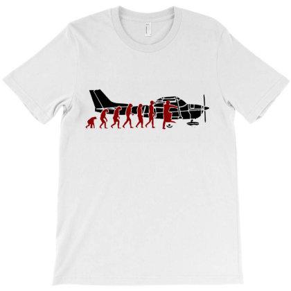 Evolution Cessna Pilot T-shirt Designed By Dorothy Tees