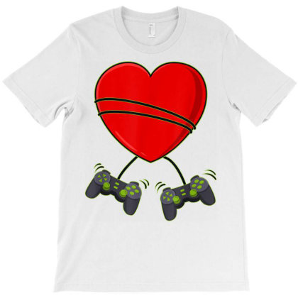 Gamer Video Gamer Heart Controllers Valentines Day Boys Girls Kids T S T-shirt Designed By Ryan2204
