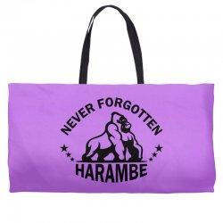 Never Forgotten Harambe Weekender Totes | Artistshot