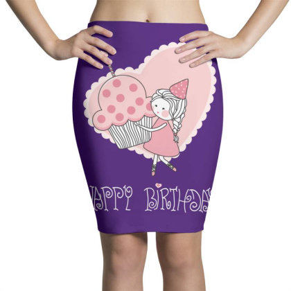 Happy Birthday Pencil Skirts Designed By Coşkun