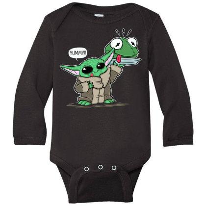Big Yoda Long Sleeve Baby Bodysuit Designed By Koopshawneen