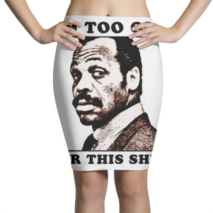 Murtaugh Is Too Old For This Shit (lethal Weapon) Essential T Sh Pencil Skirts Designed By Moon99