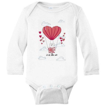 Love Is In The Air Long Sleeve Baby Bodysuit Designed By Coşkun
