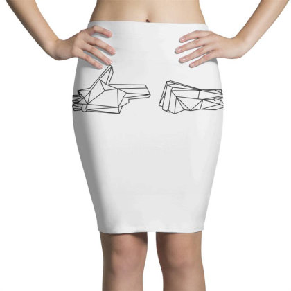 Run The Jewels 4 Wireframe Classic T Shirt Pencil Skirts Designed By Moon99