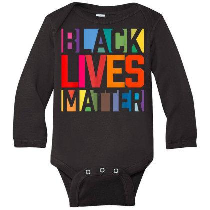 Black Lives Matter Long Sleeve Baby Bodysuit Designed By Koopshawneen