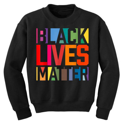 Black Lives Matter Youth Sweatshirt Designed By Koopshawneen