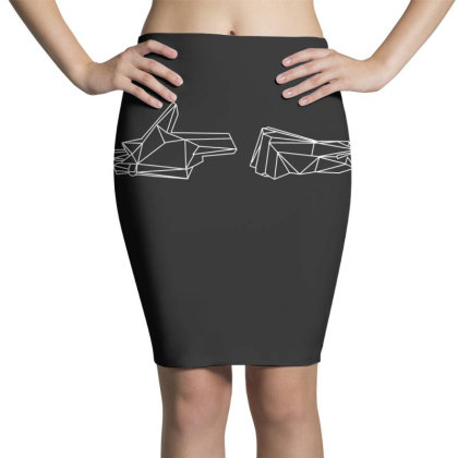 Run The Jewels 4 Wireframe T Shirt Pencil Skirts Designed By Moon99